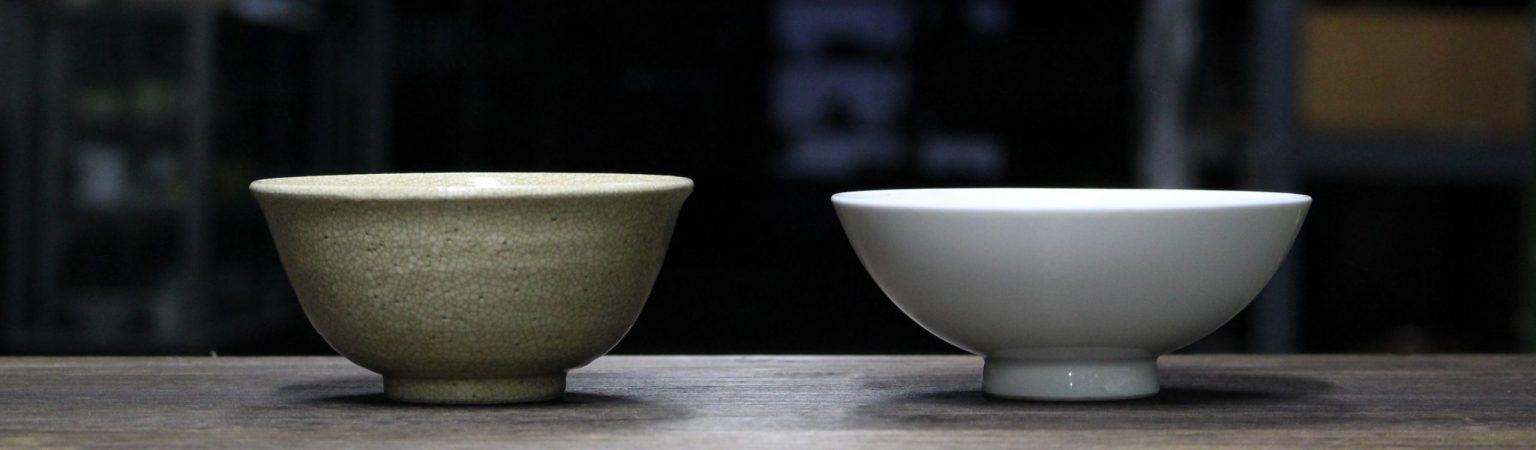 陶器と磁器 茶碗